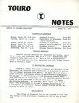 Touro Notes April 15, 1977