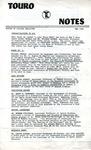 Touro Notes May 1980