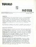 Touro Notes December 1980