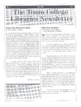 Touro College Libraries Newsletter Vol. I No. 1