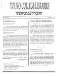 Touro College Libraries Newsletter Vol. 3 No. 1