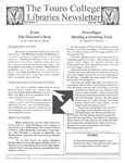 Touro College Libraries Newsletter Vol. 4 No. 1 by Touro College Libraries