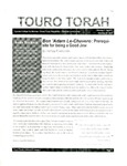 Touro Torah Volume 1 Issue 1