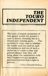 The Touro Independent Vol. V No. 5