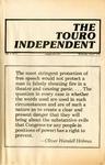 The Touro Independent Vol. V No. 5