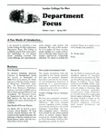 Department Focus Volume 1 Issue 1