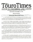 The Touro Times December 13, 1995 by Touro Law Center