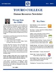 Touro College Human Resources Newsletters Volume 1 Issue 1