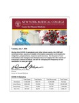 COVID-19 Newsletter (vol. 27) by Center for Disaster Medicine, New York Medical College