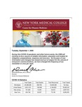 COVID-19 Newsletter (vol. 35) by Center for Disaster Medicine, New York Medical College