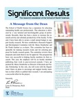 Significant Results: 2020, Volume 1, Issue 1 by School of Health Sciences, Touro College